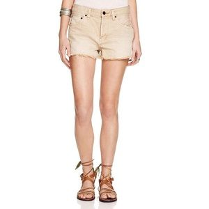 NWT Free People Khaki Brown Uptown Denim Shorts